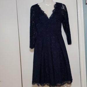 ELIZA J. GORGEOUS DARK BLUE DRESS.